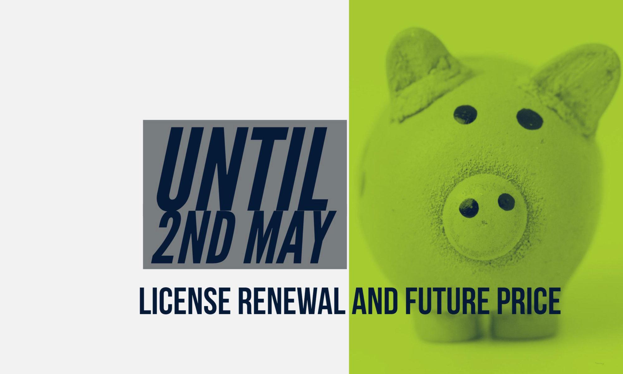 license renewal and price model