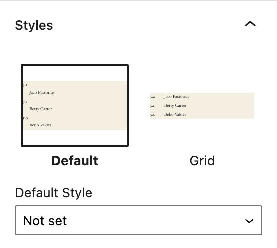 Description List Block grid style